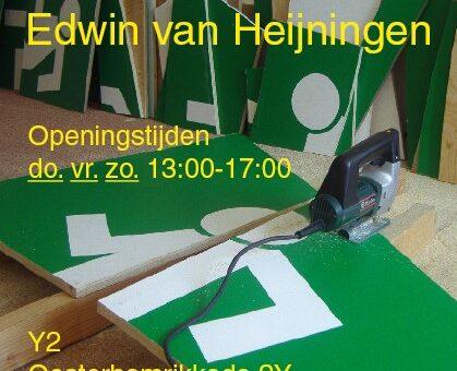 """""""Een exposé met artiest"""":  werk van Edwin van Heijningen"""